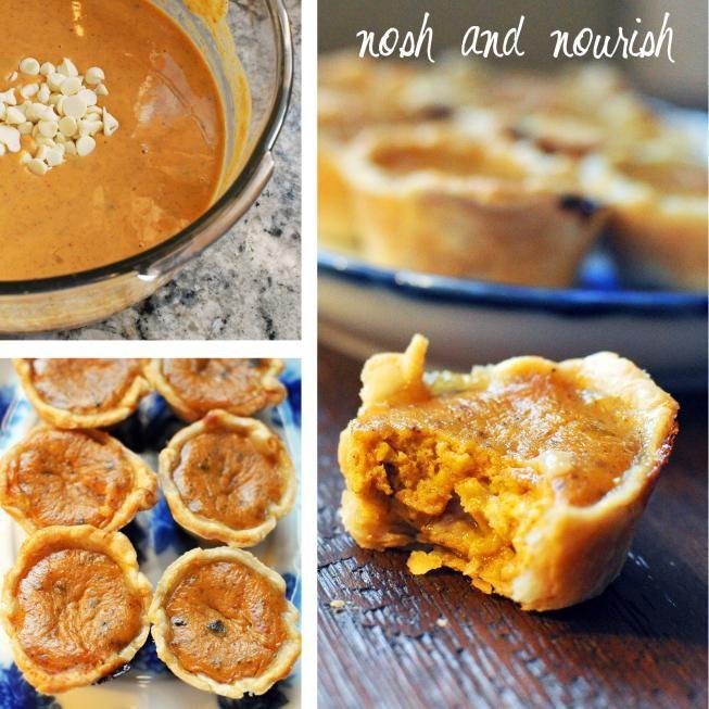 Thanksgiving: {White Chocolate Pumpkin Pie Bites} | Nosh and Nourish