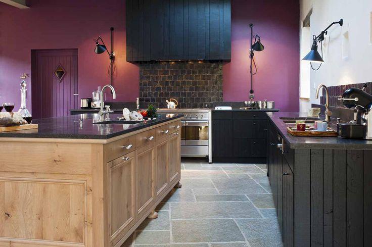 Les 69 meilleures images propos de cuisine d 39 ambiance - Repeindre cuisine en chene massif ...