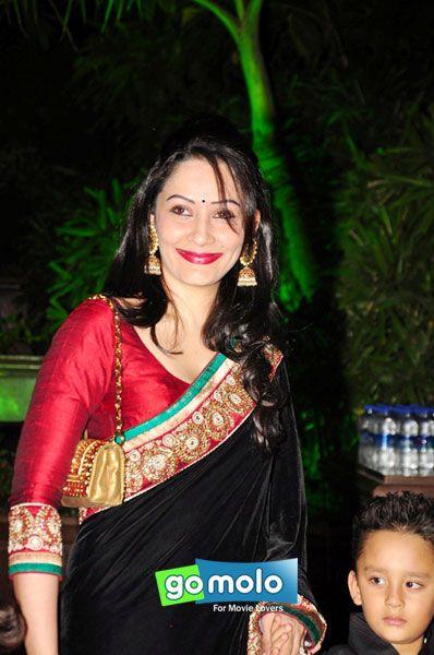 Manyata Dutt at Arpita Khan's wedding reception in Mumbai