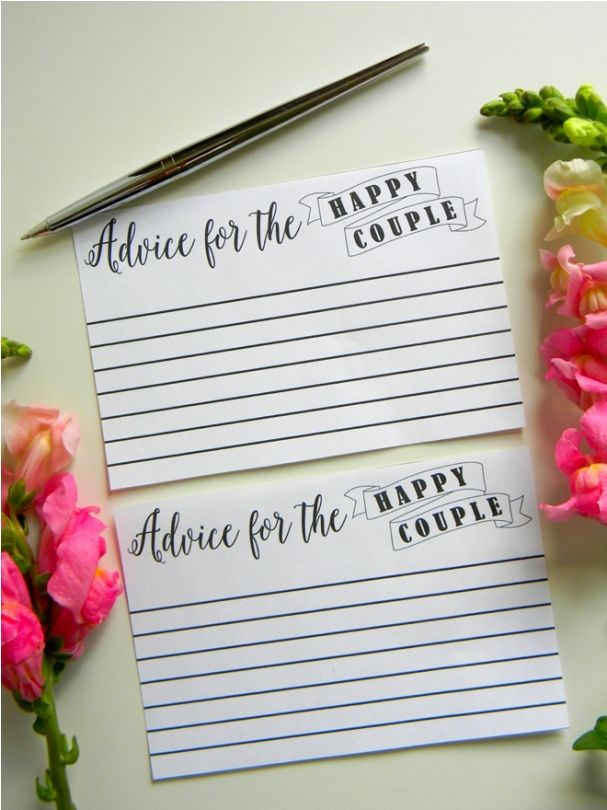 bridal shower advice cards template - 1000 ideas about advice cards on pinterest bridal