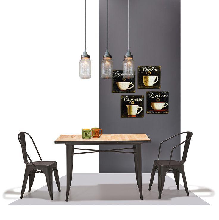 """La Gamme Venus de @Coffee Meuble est un modèle intemporel. Grand classique des intérieurs industriels style """"Factory"""", ce modèle offre design et lignes épurées.  Entièrement réalisé en métal, Coffee Meuble vous propose ce modèle dans plusieurs finitions possibles.  Existe également en chaise, tabouret et chaise de bar"""