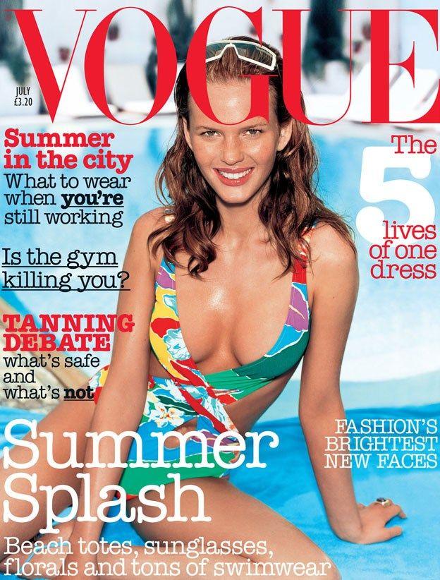Anne Vyalitsyna by Regan Cameron for Vogue UK July 2003