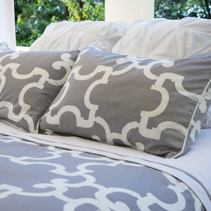 Great site for designer bedding   The Noe Grey Duvet Cover   Crane and Canopy
