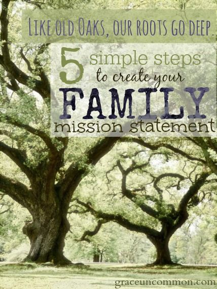 Create a family mission statement                                                                                                                                                                                 More
