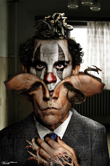 Inspiration | Evil Celebrity Clown Photo-Manipulation