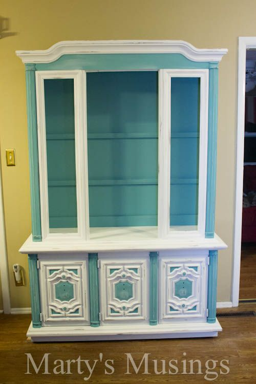 China Hutch Makeover with Chalk Paint from Marty's Musings