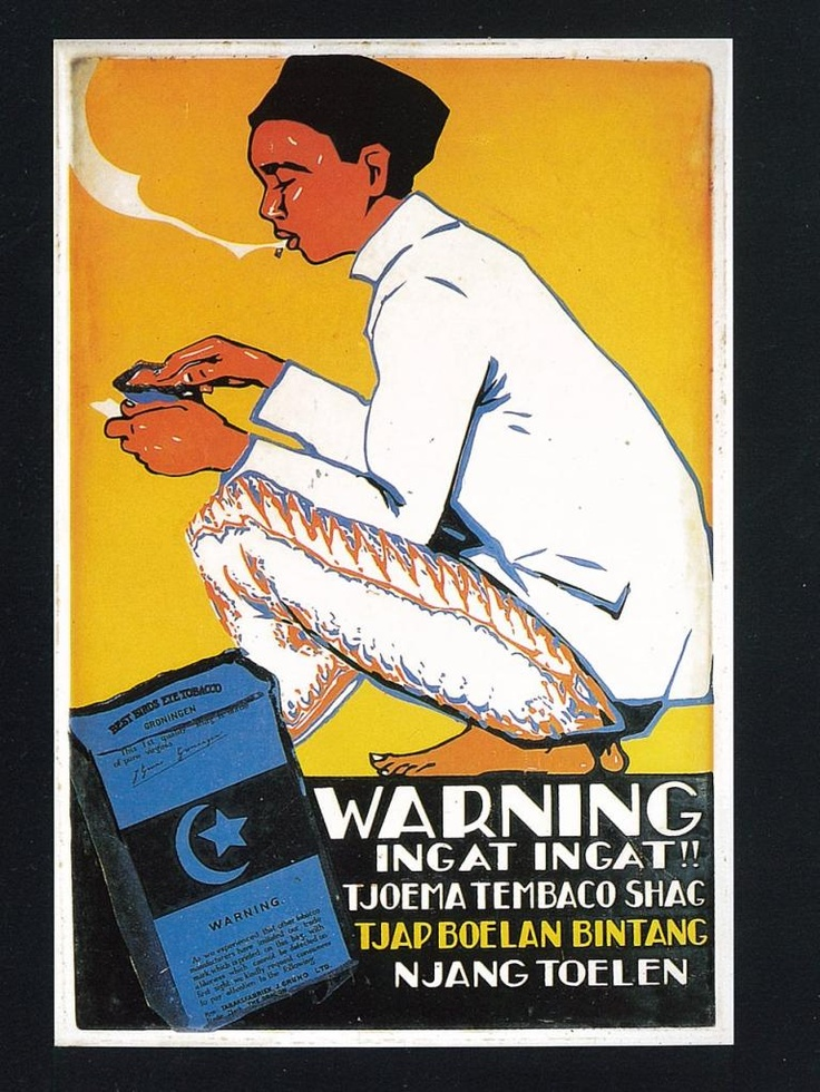 epic pose for the road smoker..    #advertism #poster #old #skool #indonesian #art #design