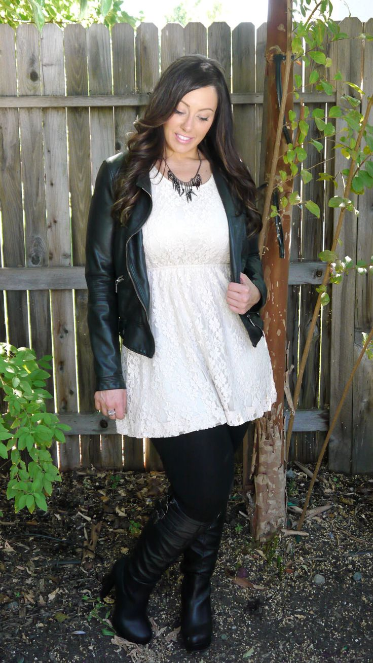 Leather and Lace. Two of the top must-haves for fall 2012!