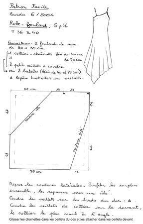 robe asymétrique en soie