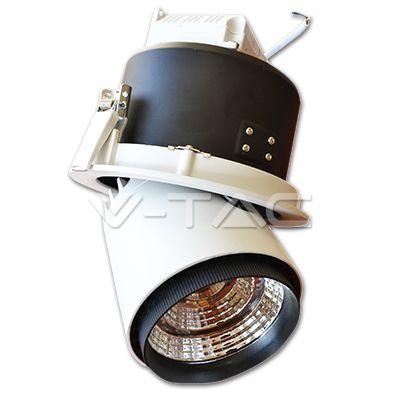 Spot LED COB - Zoom Fitting : 25W Spot LED COB Orientabile - Corpo Bianco 4000K