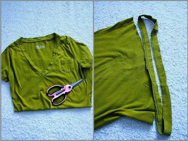 Collana fatta di vecchia camicia. Master class – Fai da solo