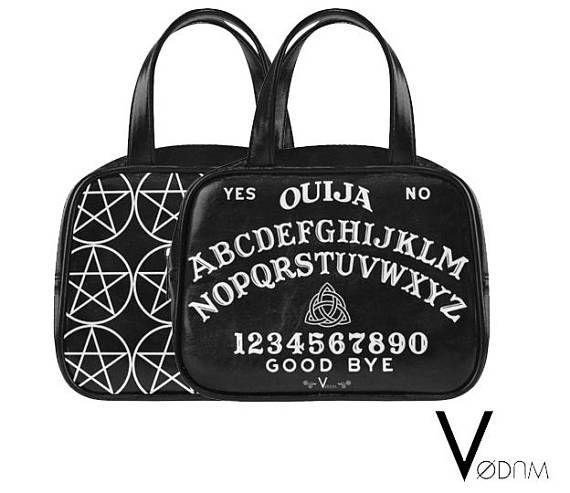 OUIJA TOP HANDLE Handbag Gothic Pagan Sweet Bones Black Dark
