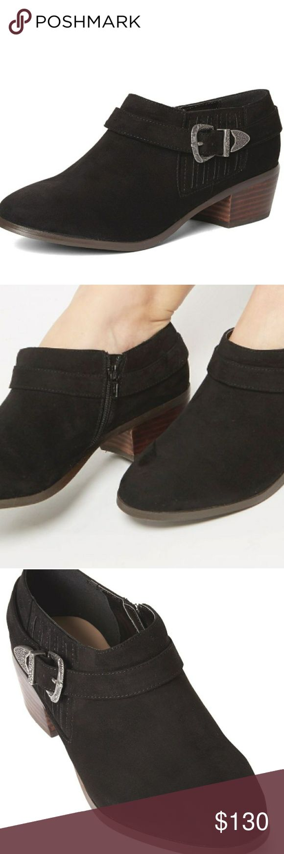 BLACK RODEO LOW ANKLE BOOTS...13www Beautiful SUEDE ANKLE BOOTS...for the BIGLEGBABE!!!...VERY BEAUTIFUL AND COMFORTSBLE....HARD TO FIND SIZES. Shoes Ankle Boots & Booties