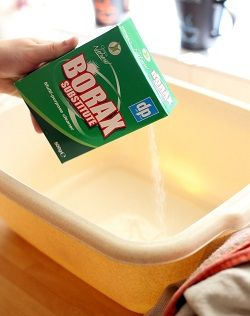 removing stains with borax substitute