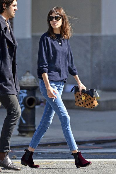 Alexa Chung Photos - Alexa Chung Spotted at Chiltern Firehouse - Zimbio