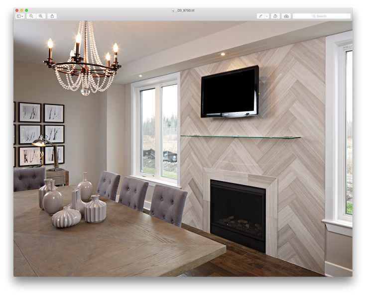 Realstone Systems White Birch Planks Herringbone Pattern