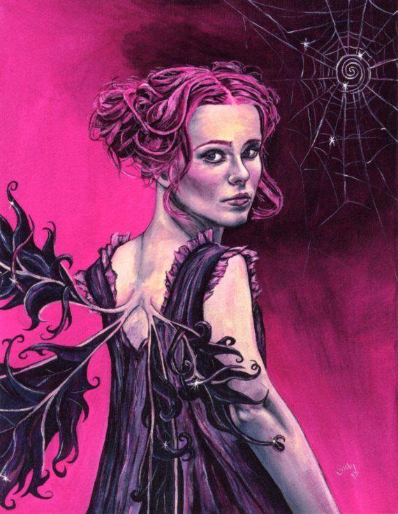 Elanya+the+Enchantress+A4+fairy+giclee+by+thepunkfaeryartworks