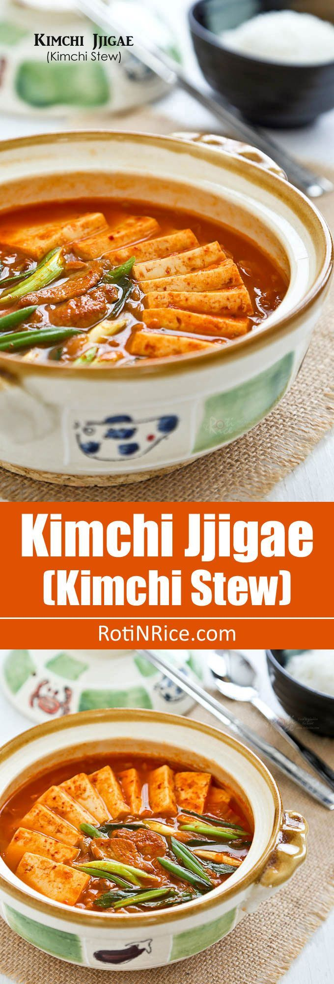 Kimchi Jjigae (Kimchi Stew), a popular spicy Korean stew made with ...