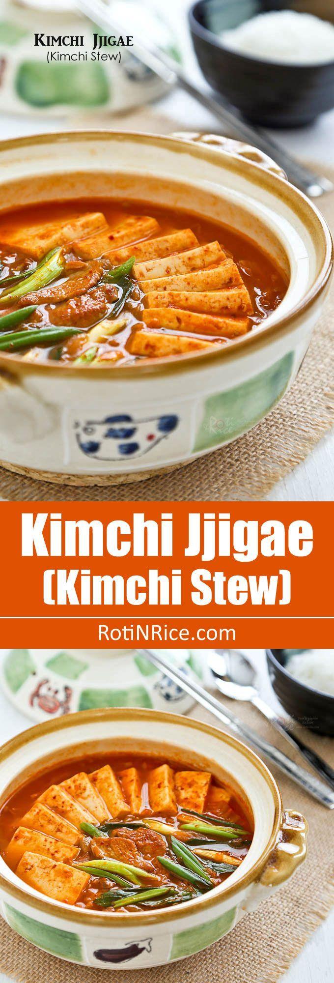 Kimchi Jjigae (Kimchi Stew), a popular spicy Korean stew made with ...