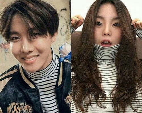 Jhope and his sister's look alike   His sister IG