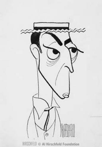 Buster Keaton by Al Hirschfeld