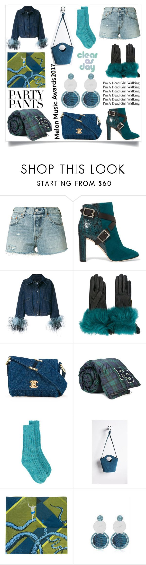 """Remember me"" by emmamegan-5678 ❤ liked on Polyvore featuring Levi's, Jimmy Choo, Prada, Chanel, Puma, The Elder Statesman, Elizabeth and James, Odeeh and modern"