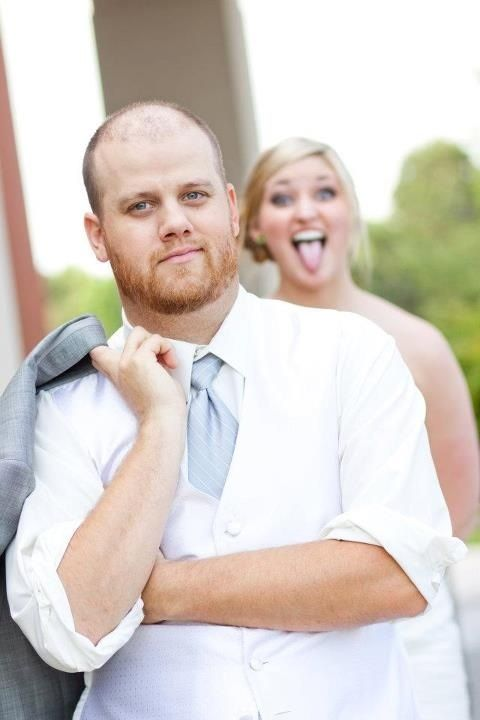 Wouldn't be surprised if my wedding photos turned out 99% funny faces and 1% normal. And rightfully so!