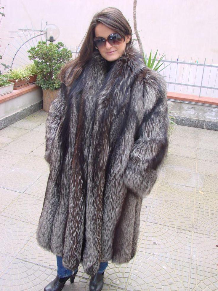Silver Fox Fur Coat Coat Nj