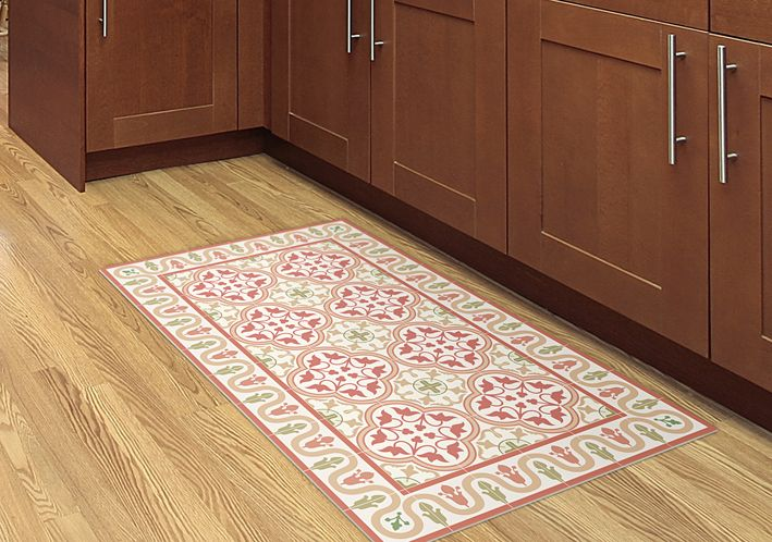 Kitchen tug, printed on linoleum mat. easy to clean.