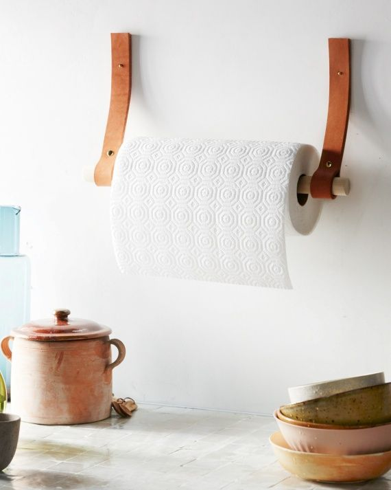 Leather Paper Towel Holder...or toilet paper!