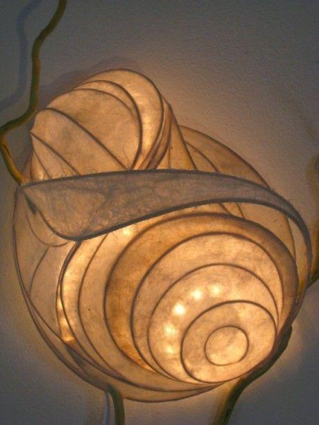 Marvelous Light Sculpture   Moods Of The Sky, Illuminated Papier Mache Sculpture Art  Lighting Design Contemporary Like The Whorls Of A Snail Beautiful Abstract  ...