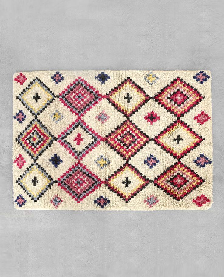 Farbiger Berberteppich