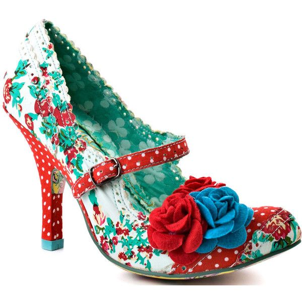 Very coolFashion Shoes, Red Shoes, Funky Shoes, Choice Cortesan, Choice Shoes, Kinda Funky, Beautiful Floral, Cortesan Floral, Irregular Choice