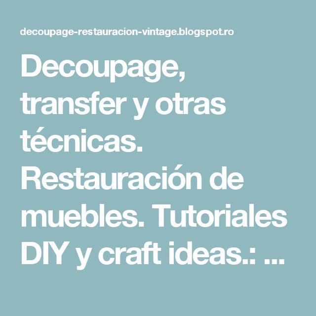 17 mejores ideas sobre t cnicas de pintura de muebles en - Tecnicas de restauracion de muebles ...