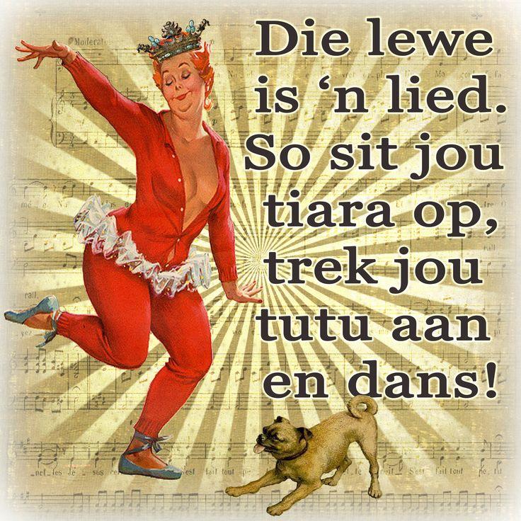 WilleMien - Dans (met erkenning aan Duane Bryers se Hilda). Digitale collage kuns deur Tinka Paulsen (Afrikoekie)