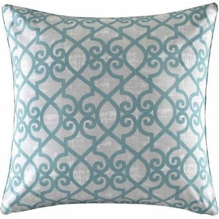 Home Essence Pismo Fretwork 3M Scotchgard Outdoor Square Pillow, Blue