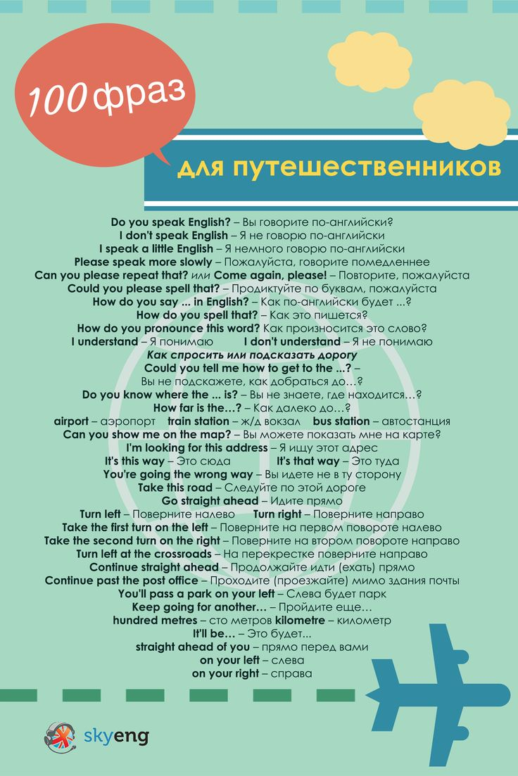 ТОП-100 полезных английских фраз для путешественников: как найти, как пройти