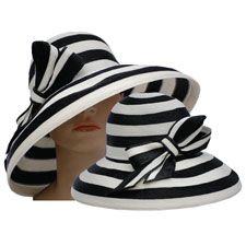 Makins Black & White Bold Stripe Derby Hat