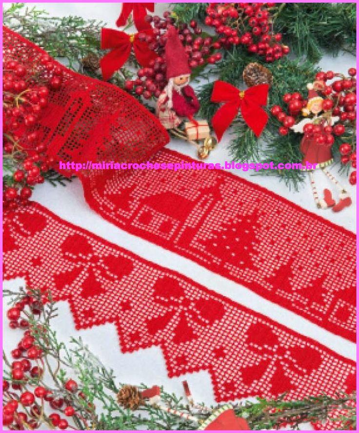 Miria крючком и картин: BARRADINHOS крючком ЗАЯВЛЕНИЕ С Рождеством N ° 634