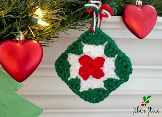 Fiber Flux: Quick Granny Square Ornament