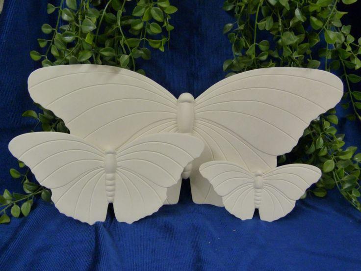 Schmetterlinge groß, mittel und klein (unbemalt)
