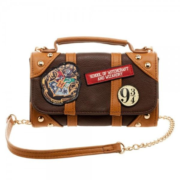 """- Features Three Patches Sewn On To The Front - Faux Leather - 90% PU - 10% Polyester - Fully Lined - 48"""" Shoulder Strap - Magnetic Snaps - Fold Out Wallet - One Transparent ID Window - One Full Size"""