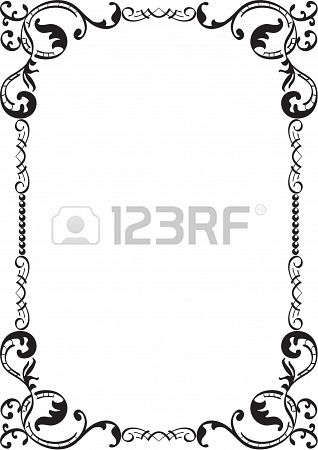 Flourish frame isolated on white