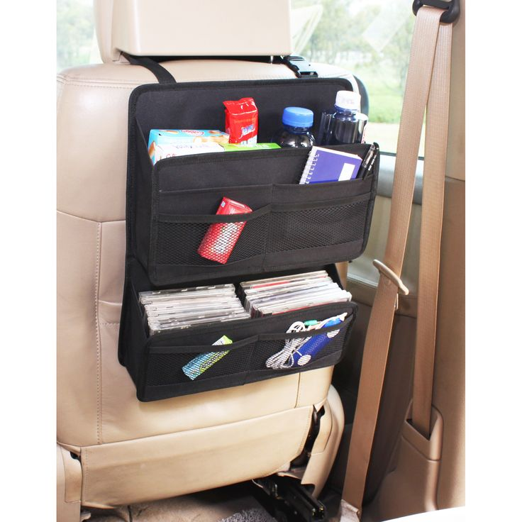 Help keep your vehicle clean and tidy with this back seat organizer.