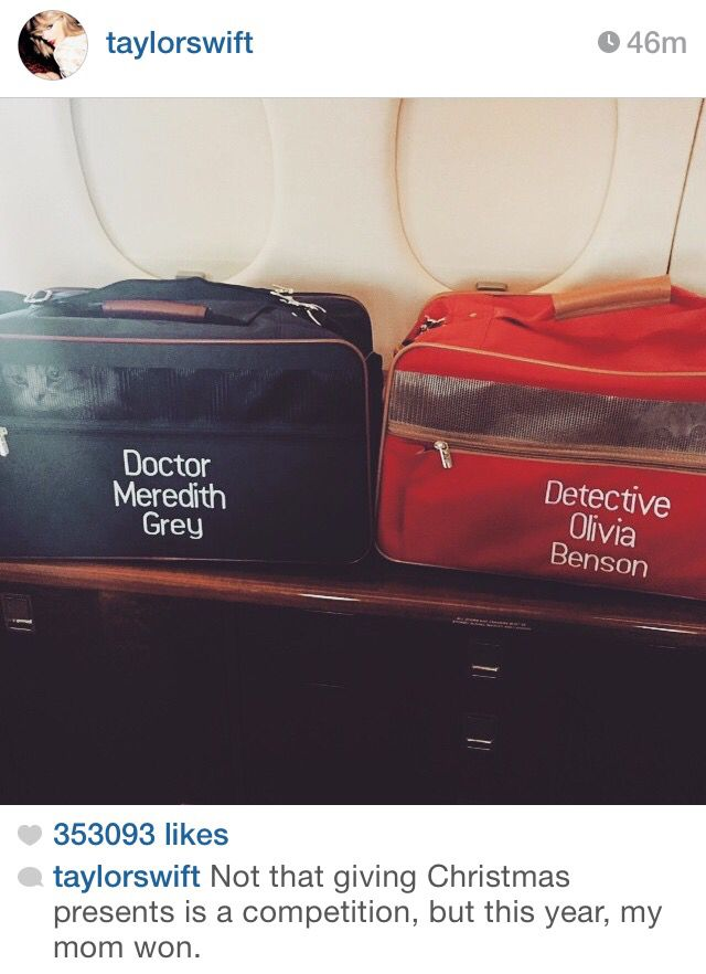 Hahahaha! Now that is just too cute!! :) love Olivia and Meredith! Please visit our website @ http://22taylorswift.com