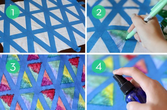 How to: Make DIY Colorful Geometric Textiles with Sharpies & Rubbing Alcohol » Curbly | DIY Design Community
