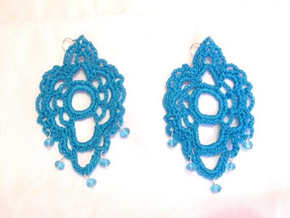 134 best Crochet: Earrings images on Pinterest   Crochet ...