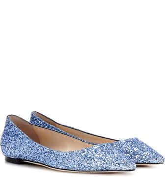Jimmy Choo - Romy Flat glitter ballerinas - mytheresa.com. Paillettes BleuesBallerinesJimmy  ChooChaussures ...