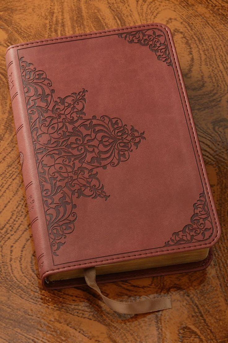Chestnut Filigree Thinline Bible-ESV