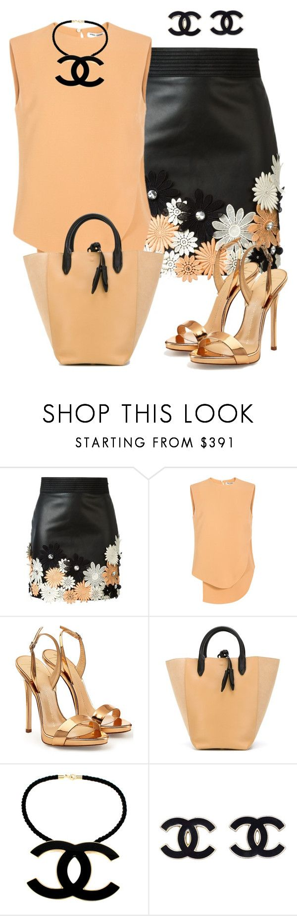 """Sin título #1293"" by marisol-menahem ❤ liked on Polyvore featuring Emanuel Ungaro, Opening Ceremony, Giuseppe Zanotti, 3.1 Phillip Lim, Chanel, women's clothing, women's fashion, women, female and woman"